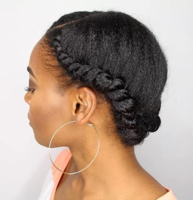 Updo  Hairstyle  13 Elegant Twist Updo  for Black  Hair 3