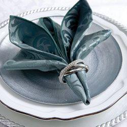 Napkin folding tutorial
