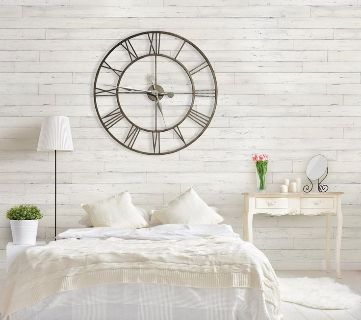 Using Old Fence Pickets For Accent Wall: Wall Planks, White Wood Paneling, Bedroom Wall