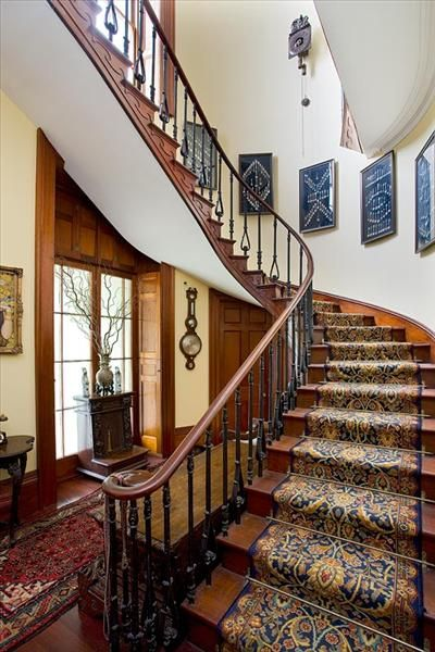 Rockwall entry staircase