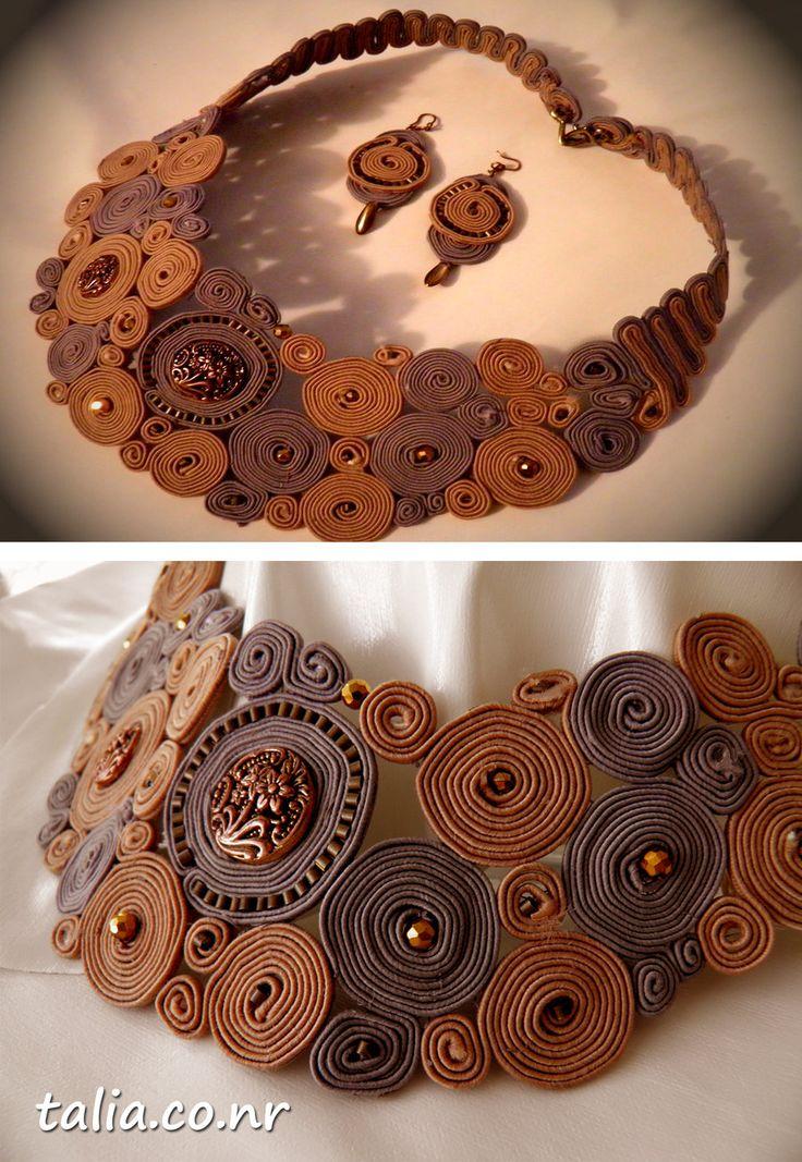 soutache, handmaid jewelry by caricatalia.deviantart.com on @deviantART
