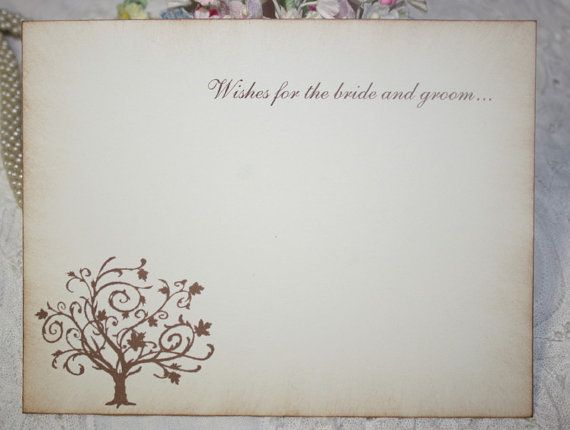 Wedding Wish Cards Wedding Tree Wishes For Bride And Groom Ivory Set Of