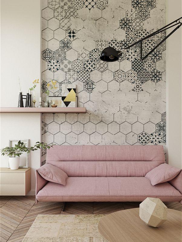 Mosaic   Designer Murals   Accent Wallpaper   Choose your favorite design from our Accent Wallpaper Collections www.accentwall.eu #mural #wallpapermural #tiles #designerwallpaper #accentwall