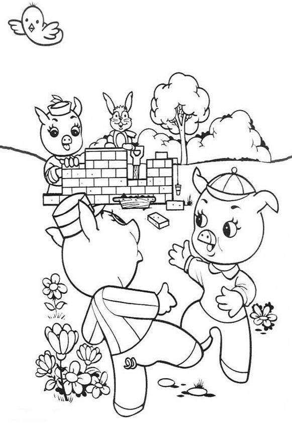 41 mejores imgenes de Pigs en Pinterest  Cerdos Colorear y Tres