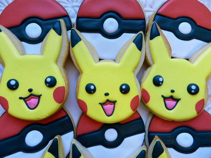The Cutest Pikachu And Pokeball Cookies By Anne Of Flour