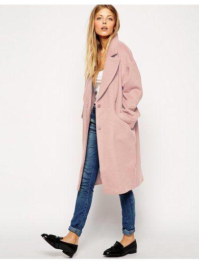 ASOS Cocoon Coat - Blue