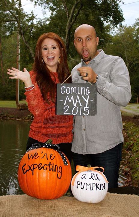 Fall baby announcement #fall #October #baby