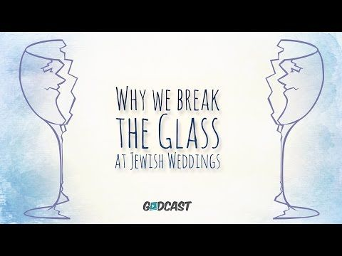 How to know why you are breaking the glass at a Jewish Wedding.   Sure it's fun to break things, but that's not the only reason that we break the glass.   Learn more at http://www.g-dcast.com/jewish-weddings/