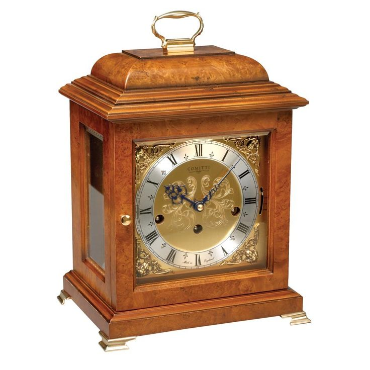 Walnut Basket Mntl Clock Trip Chime - $5,500.00