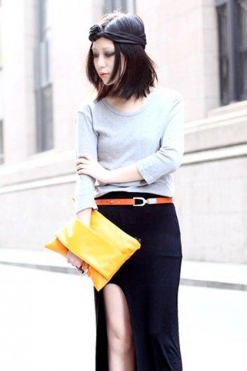 Hand Belt Design Orange Broadband Bag $22.99