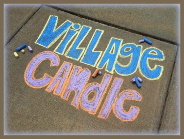 Village Candle sidewalk chalk art by my daughter Emily  – My Blog ~ Village Candle