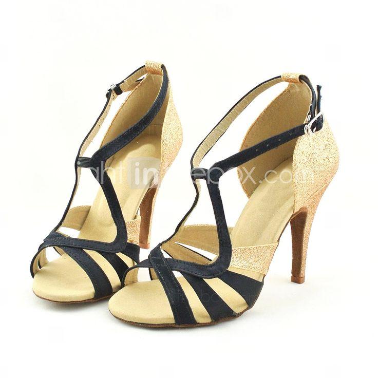 sandales latines personnalisables femmes satin chaussures de danse plusieurs couleurs eur. Black Bedroom Furniture Sets. Home Design Ideas