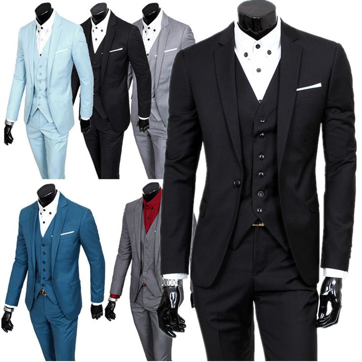jacket + pants + vest sets / man's business casual 3 pieces suits / men's one button suit blazers coat + trousers + waistcoat //Price: $104.27 & FREE Shipping //     #hashtag3