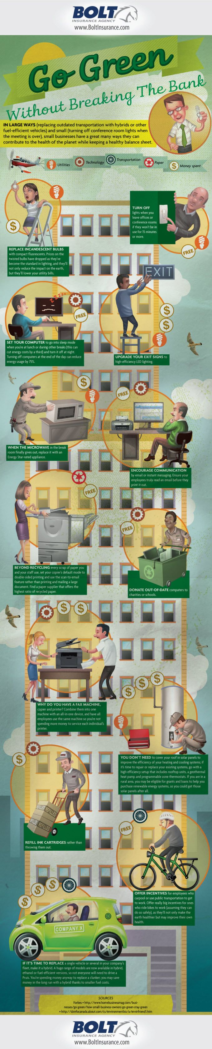 go green ideas for office. help your business go green without breaking the bank infographic ideas for office t