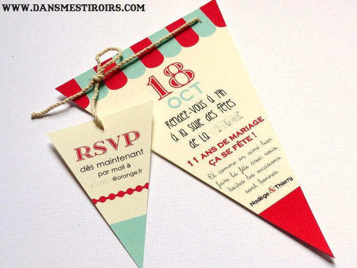 Invitation faire part mariage soir e esprit guinguette b - Idee soiree anniversaire ...