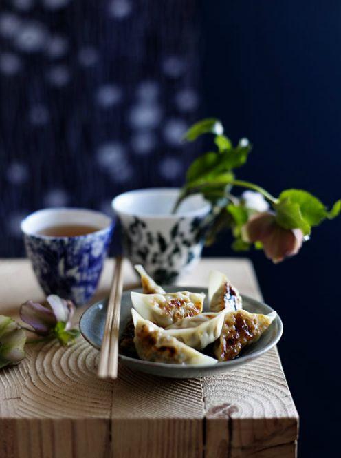 "Gyoza -=- Sometimes Called ""Japanese Potstickers,"" Are Stuffed Dumplings :: [Food Photographer Ben Dearnley]"