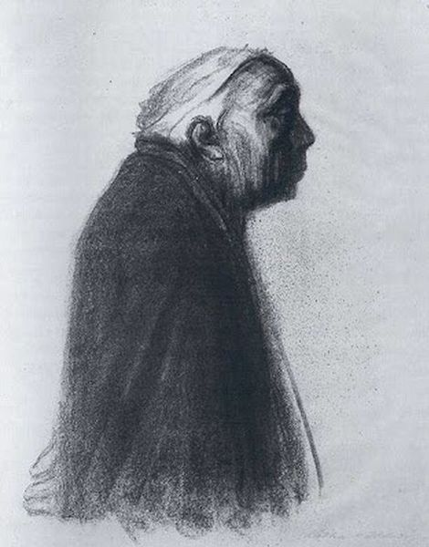 Käthe Kollwitz, Self-Portrait Facing Right on ArtStack #kathe-kollwitz #art