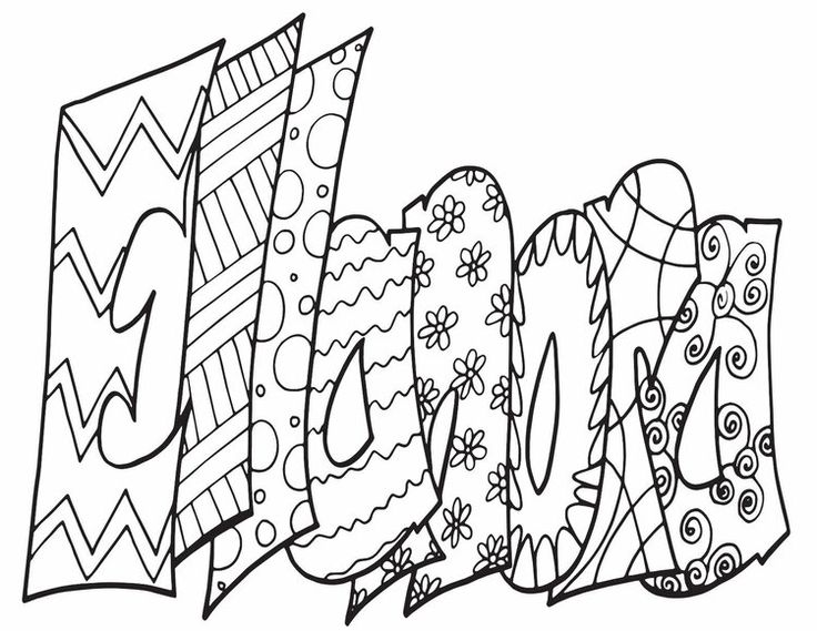 ELLANORA Free Printable Name Coloring Pages from Stevie