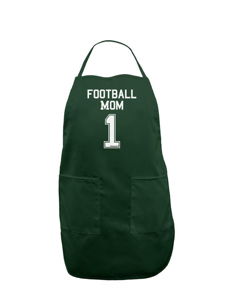 TooLoud Football Mom Jersey Dark Adult Apron