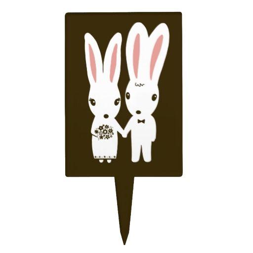 Bunny Rabbits Wedding - Cute Bride and Groom