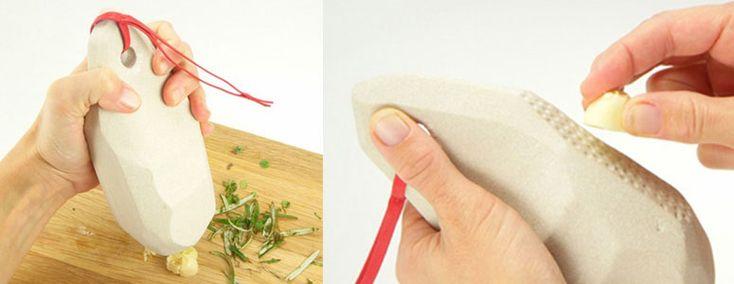Rozłupywacz do czosnku Homo Sapien to narzędzie, którym można również zaostrzyć nóż i rozdrobnić zioła.