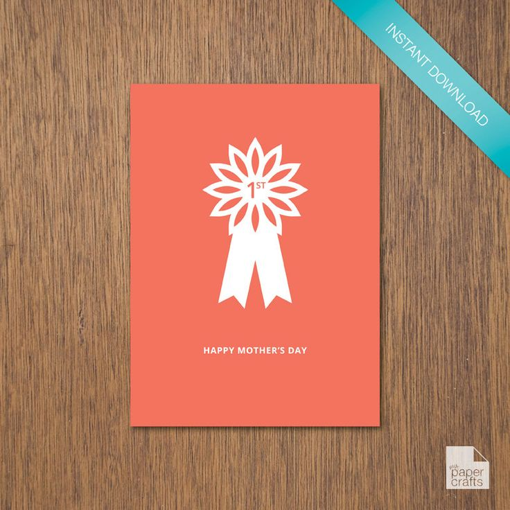 Number One Mum - Coral | DIY Printable by myPaperCraftsau on Etsy