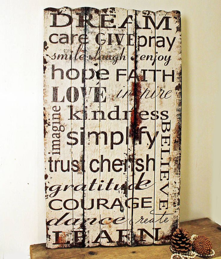 Rustic Wooden Dream Wall Sign