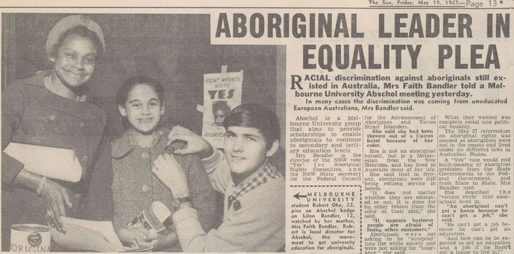 Faith Bandler spoke to Melbourne University students urging them to vote for the Aboriginal referendum.    Source: Courtesy The Sun (Melbourne), 19 May 1967