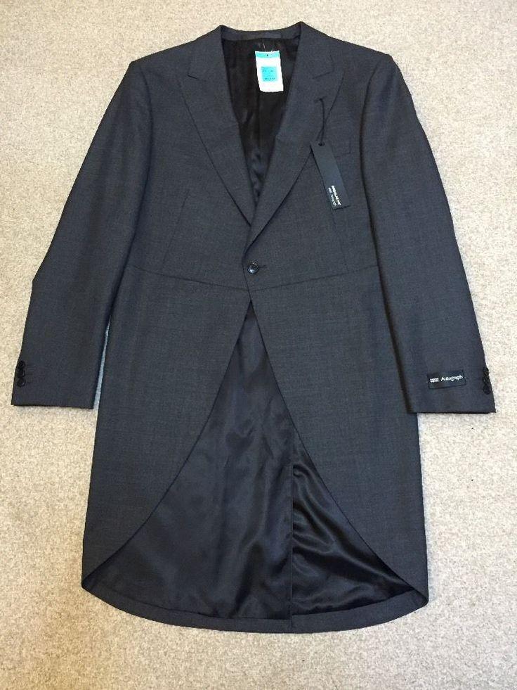 M&S AUTOGRAPH men's Long Special Occasion jacket UK40 Medium BNWT Charcoal