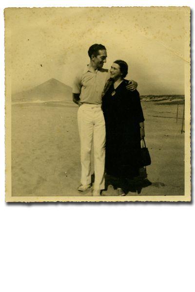 José de Almada Negreiros e Sarah Affonso em Moledo do Minho [1934]