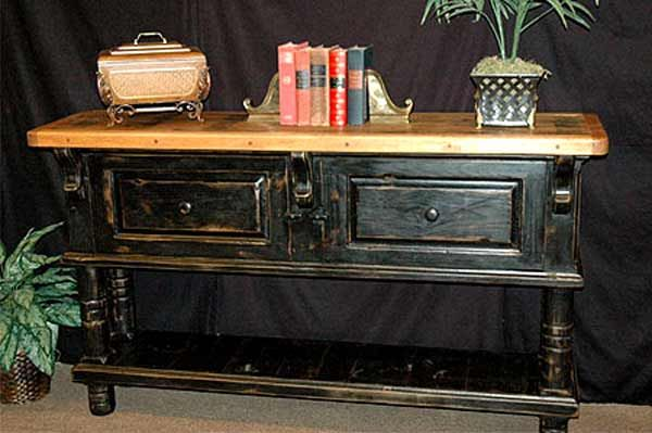Distressed Black Furniture Oh So Crafty Pinterest