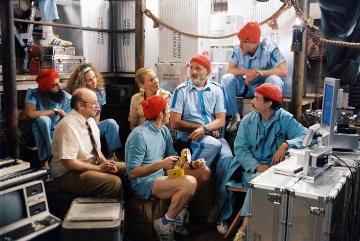 Still Of Bill Murray, Willem Dafoe, Cate Blanchett, Bud Cort, Owen Wilson, Robyn Cohen, Noah Taylor And Waris Ahluwalia In Life Aquatic (2004)