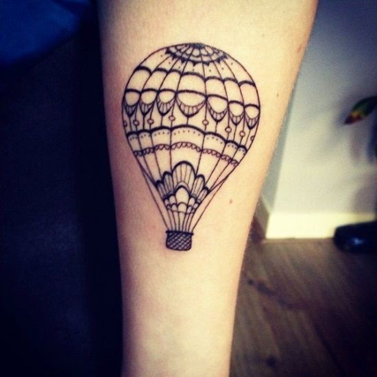 Hot Air Balloon Hand Tattoo. Adventure tattoos