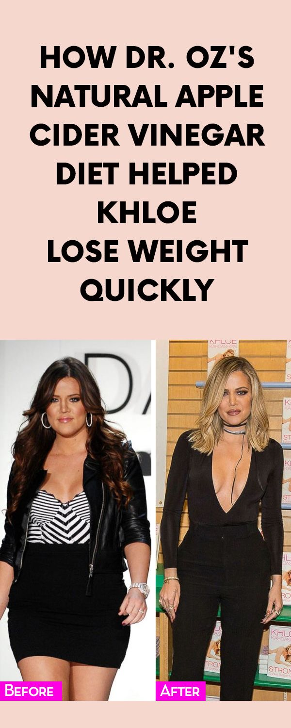 How Dr. Oz's Natural Apple Cider Vinegar Diet Helped Khloe Lose Weight Quickly