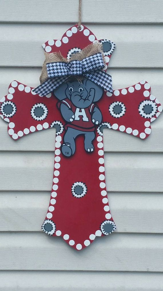 Check out this item in my Etsy shop https://www.etsy.com/listing/474812795/alabama-crimson-tide-big-al-xlarge-cross