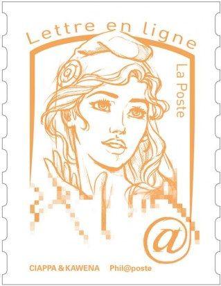 La leader Femen : Muse du nouveau timbre « Marianne »