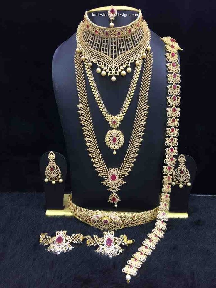 Beautiful different types of bridal jewellery designs