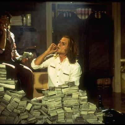 "Johnny Depp in the role of drug dealer George Jung in the movie ""Blow."""