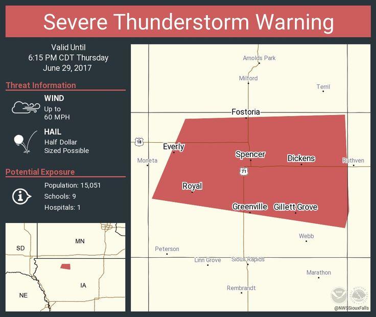 Severe Thunderstorm Warning including Spencer IA, Everly IA, Royal IA until 6:15 PM CDTpic.twitter.com/akVoaoLGzV - https://blog.clairepeetz.com/severe-thunderstorm-warning-including-spencer-ia-everly-ia-royal-ia-until-615-pm-cdtpic-twitter-comakvoaolgzv/
