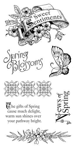 Graphic 45 Cling Stamp Sweet Sentiments 1