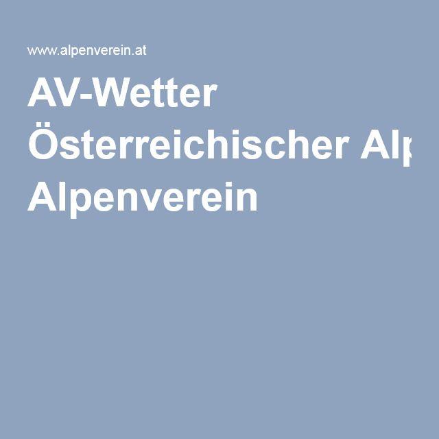 AV-Wetter Österreichischer Alpenverein