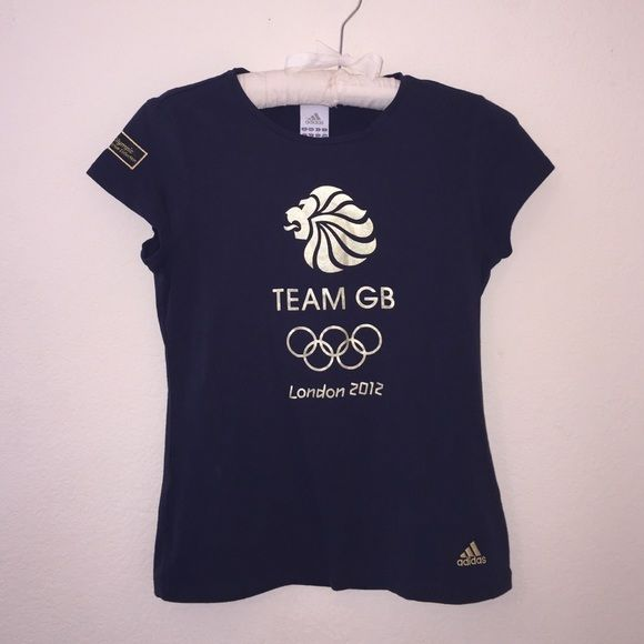 Adidas Tee Rare! Team GB shirt from the actual venue of the 2012 Olympic Games. Patch on shoulder is stiched as well as the Adidas logo! Love this shirt, wish it fit! Size is a M! Lettering is a metallic gold. Any questions, or bundle requests feel free to ask! 😊 Adidas Tops Tees - Short Sleeve