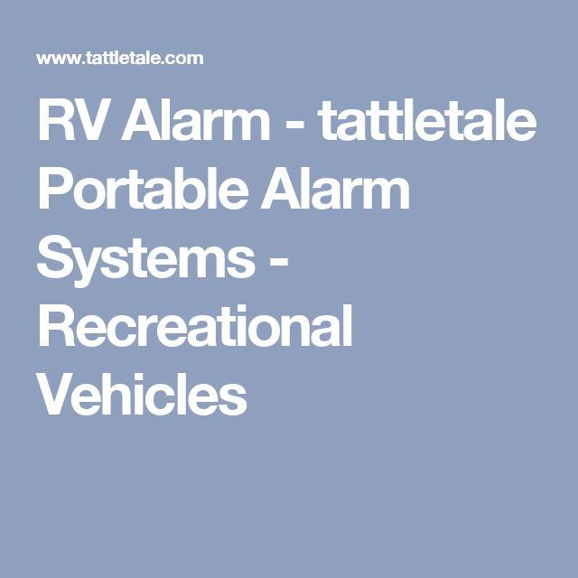 RV Alarm - tattletale Portable Alarm Systems - Recreational Vehicles