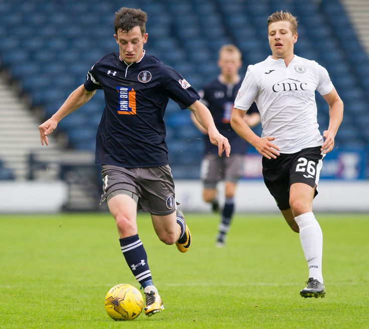 Queen's Park's David Galt in action during the Betfred Cup game between Queen's Park and Edinburgh City