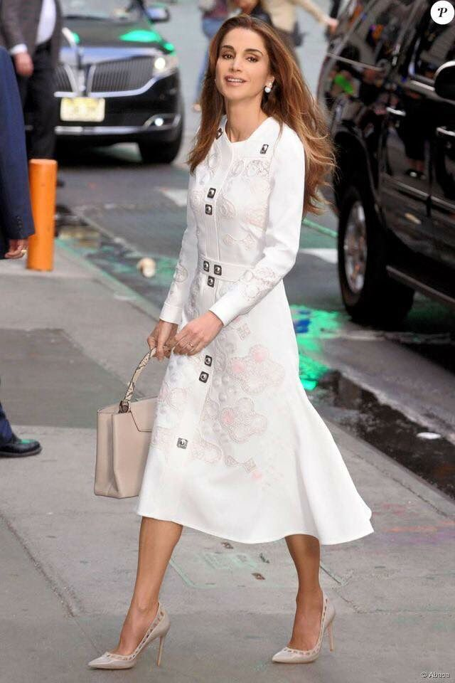 2015 - Queen Rania - dress by Peter Pilotto