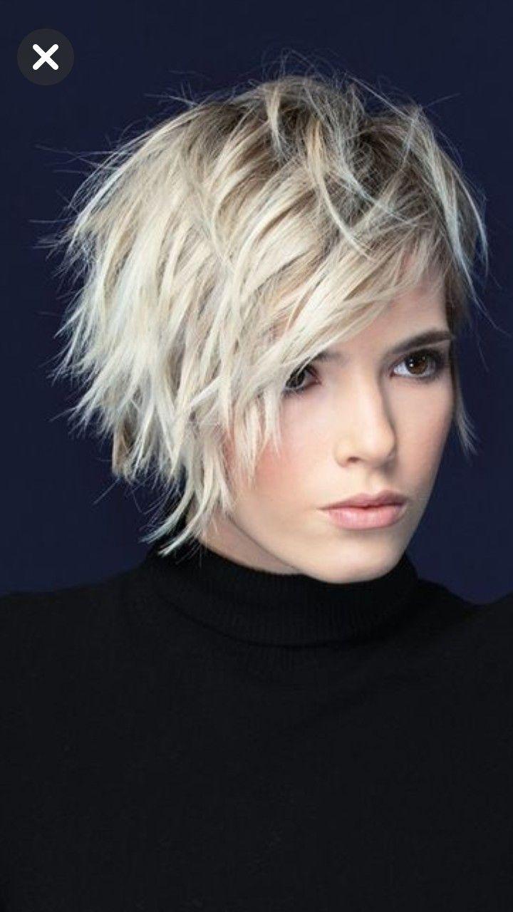 Cute choppy blond