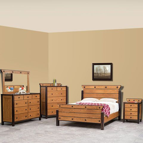 Amish Made Solid Wood Craftsma Prairie Lodge Bedroom Suite