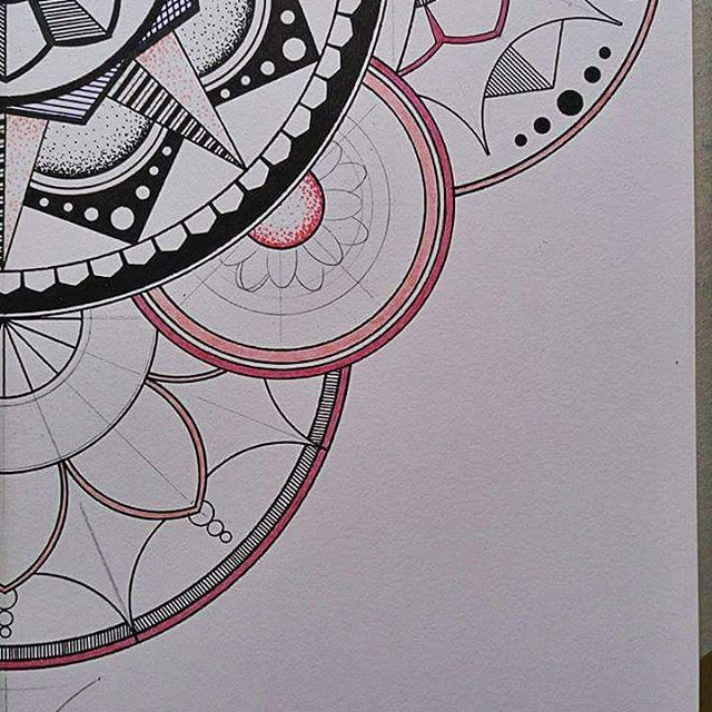 Pink mandala_Details_✏  A3 paper/160gsm  Wip_   #mandala #zentangle #mandalas #love #mandalaart #zentangleart #mandalatattoo #draw #mandaladrawings #drawing #color #beautiful #art #artist #artwork #creative #instadraw #mandalastyle #lovemandalas #photography #artist_help #art_gallery #art_sharing #heymandalas