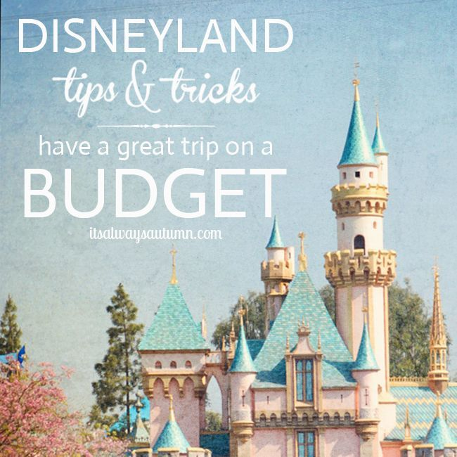 how to have a great Disneyland trip on a budget! save money and still have fun - tips for a family trip.
