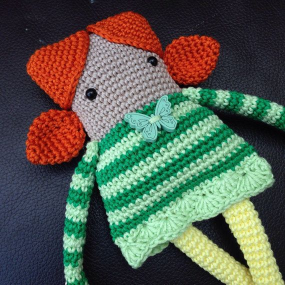 Crochet Doll Pattern Cute : 2956 best images about Bambole e vestiti on Pinterest ...